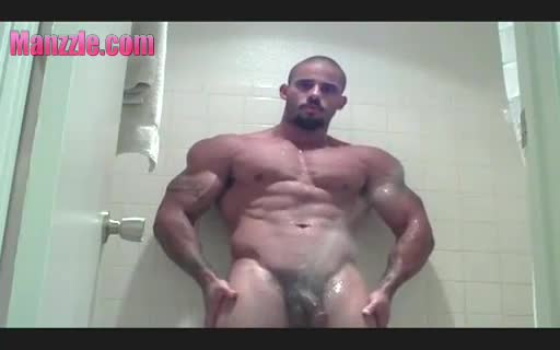 Samson in the shower